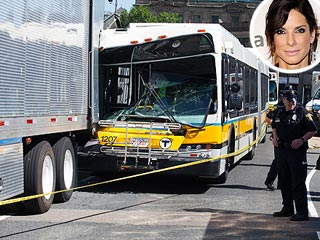 Bus Crashes on the Set of Sandra Bullock&#39;s New Film