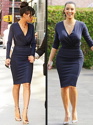 kim kardashian 300x400 Fashion Faceoff: Rihanna vs. Kim Kardashian