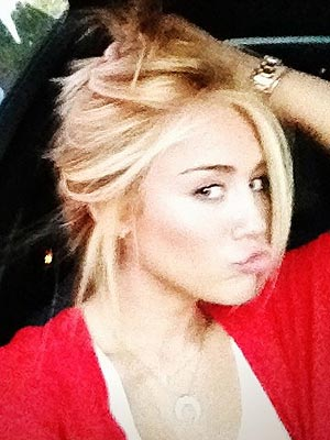 Miley Cyrus Blonde Twitter