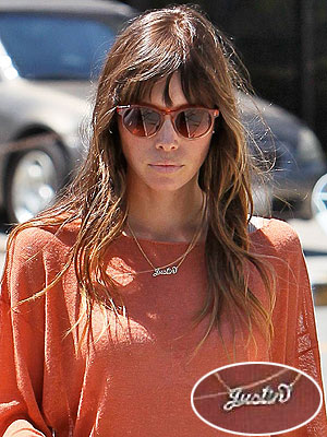 Jessica Biel Justin Necklace