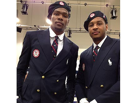 PHOTO: American Athletes Try on the Controversial Olympic Uniforms