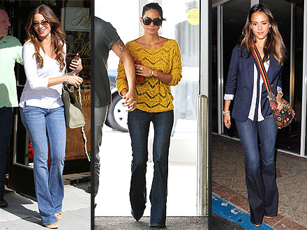 Stars in Flared Jeans