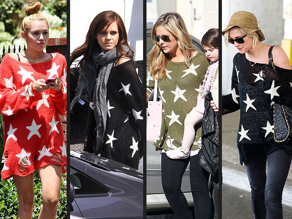 Wildfox Sweater: Emma Watson, Miley Cyrus