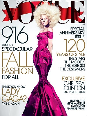 lady gaga 2 300x400 Lady Gagas September Vogue Cover Is Appropriately Awesome