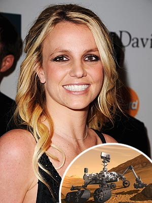 Britney Spears and Mars Rover Curiosity Share Tweets