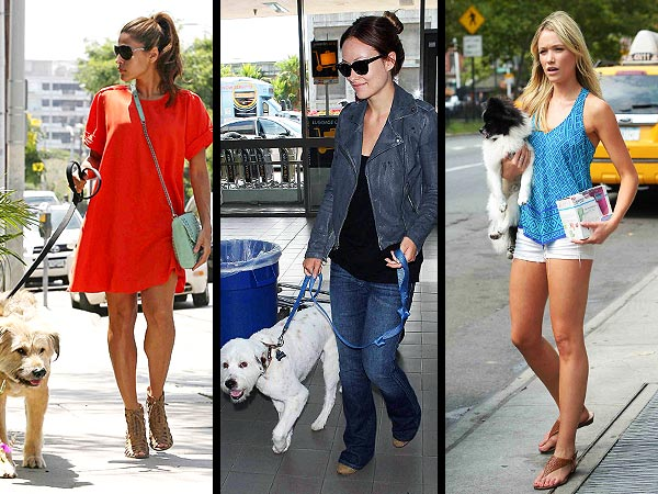 eva mendes 600x450 POLL: Which Stars Dog Walking Style Is Best?