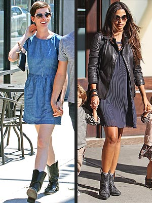 Anne Hathaway Camila Alves Boots