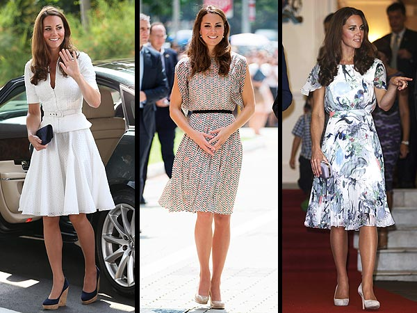 Kate Middleton Wears Three Outfits in a Day in Singapore