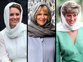 Kate's Headscarf Recalls Diana, Camilla | Camilla Parker Bowles, Kate Middleton, Princess Diana