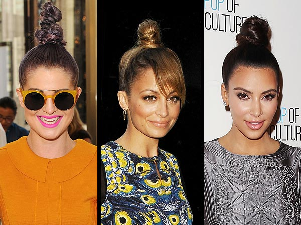 kelly osbourne 2 600x450 Would You Try a Twisty Top Knot?