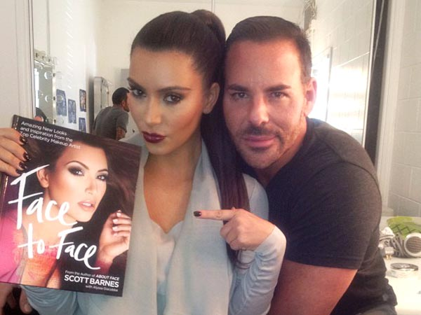 kim kardashian 2 600x450 Meet Our New Beauty Blogger, Celebrity Makeup Artist Scott Barnes