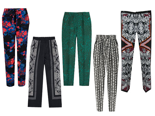 printpants 600x450 In Bold Print: Team Zoe Picks Five Printed Pants Under $250