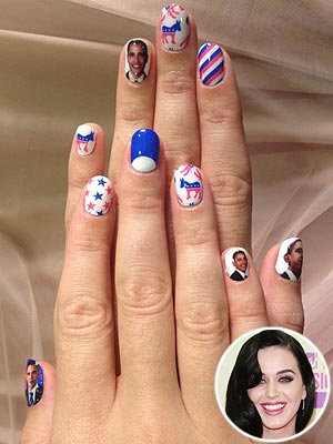 Katy Perry Obama Manicure