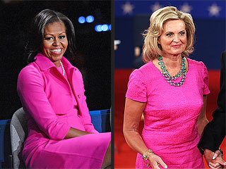 Fashion Faceoff: Michelle Obama vs. Ann Romney in All Pink!