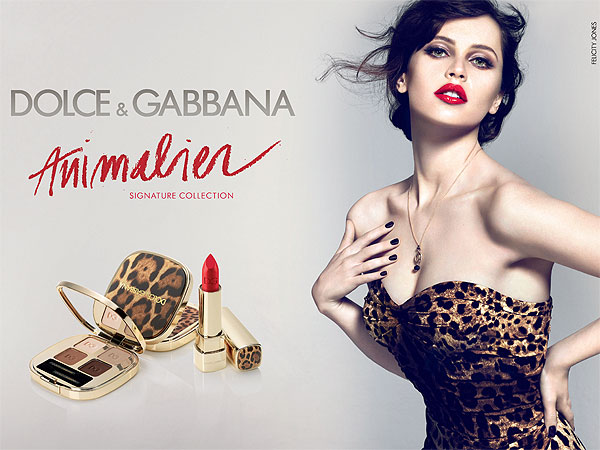felicity jones 600x450 Exclusive: Felicity Jones Stuns in New Dolce & Gabbana Beauty Ad