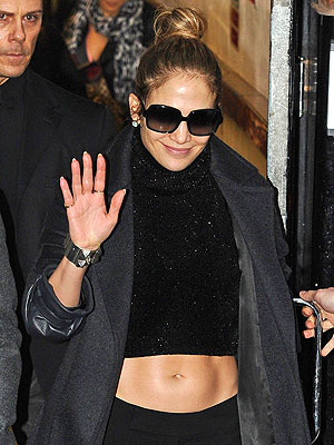 Jennifer Lopez, Casper Smart in London
