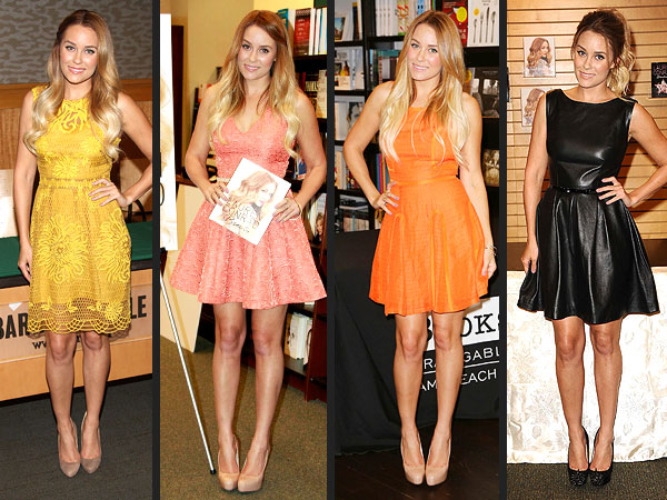 lauren conrad 2 600x450 Whats Up with Lauren Conrads A Line Dress Obsession?