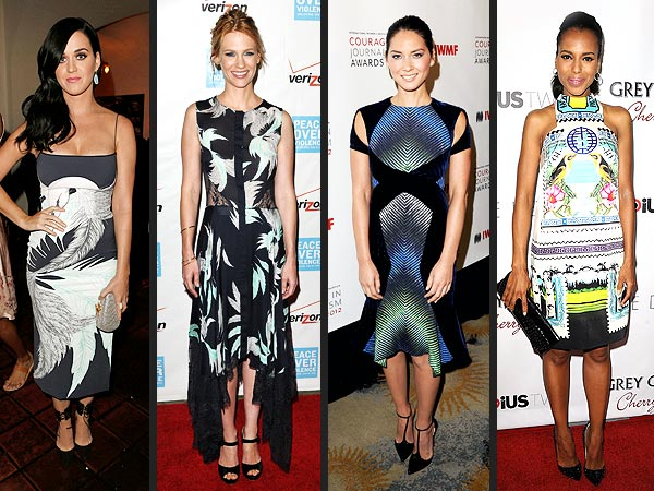 Bold Prints on Red Carpet