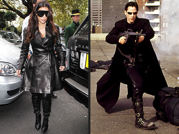 kim kardashian 600x450 Is Kim Kardashian Channeling Keanu?