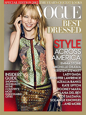 Emma Stone Vogue Best Dressed Cover