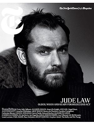 Jude Law T Magazine