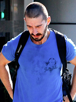 Shia Lebeouf Shaved Head