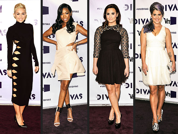 Miley Cyrus, Brandy, Demi Lovato, Kelly Osbourne