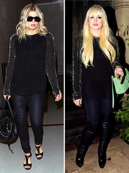 FERGIE VS. LINDSAY photo   Fergie, Lindsay Lohan
