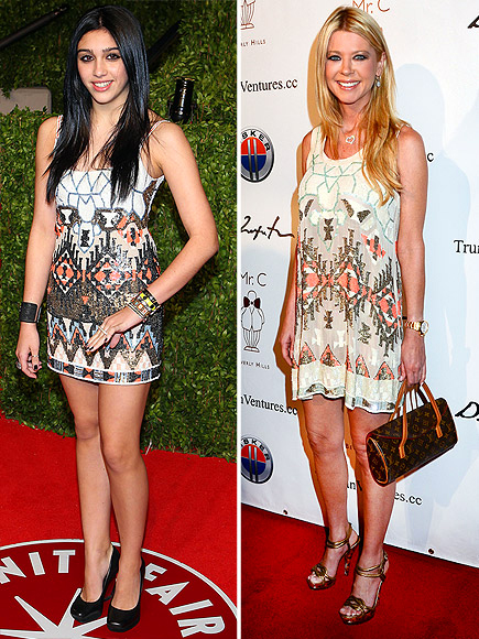 LOURDES VS. TARA  photo | Lourdes Leon, Tara Reid