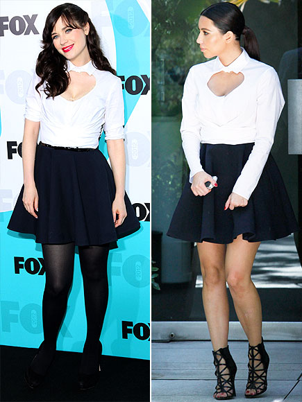 ZOOEY VS. KIM photo | Kim Kardashian, Zooey Deschanel