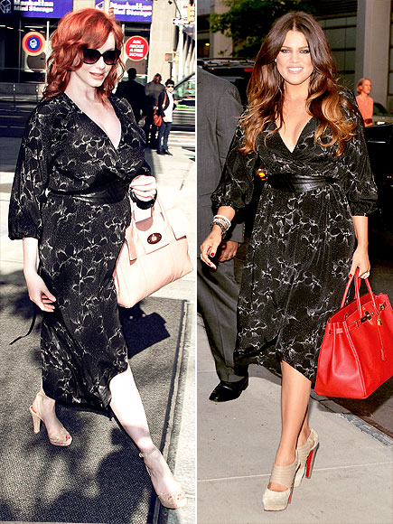 CHRISTINA VS. KHLOÉ photo | Christina Hendricks, Khloe Kardashian
