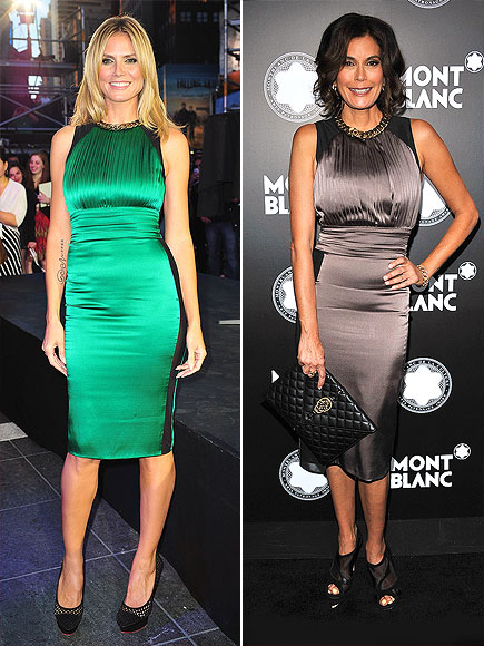 HEIDI VS. TERI photo | Heidi Klum, Teri Hatcher