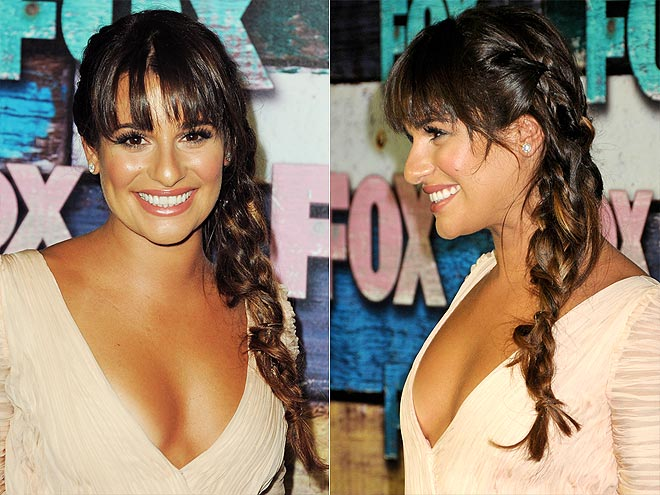 THE LAID-BACK SIDE BRAID photo | Lea Michele