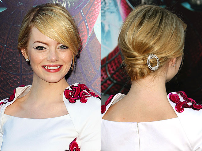 THE MESSY CHIGNON photo | Emma Stone