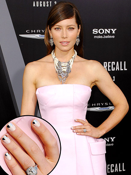 FUN FRENCH MANICURES photo | Jessica Biel