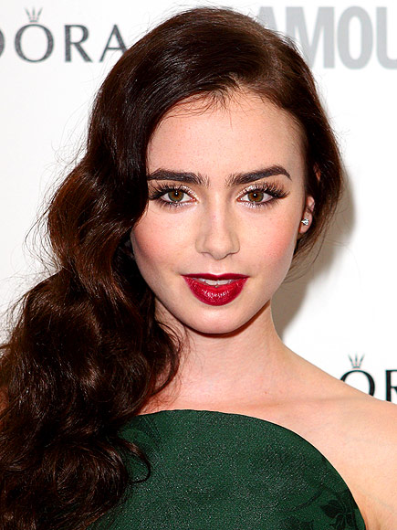 VAMPY LIPS photo | Lily Collins