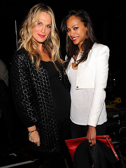 MOLLY SIMS & ZOË SALDANA photo | Molly Sims, Zoe Saldana