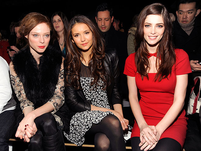 FRONT ROW AT DKNY photo | Ashley Greene, Nina Dobrev