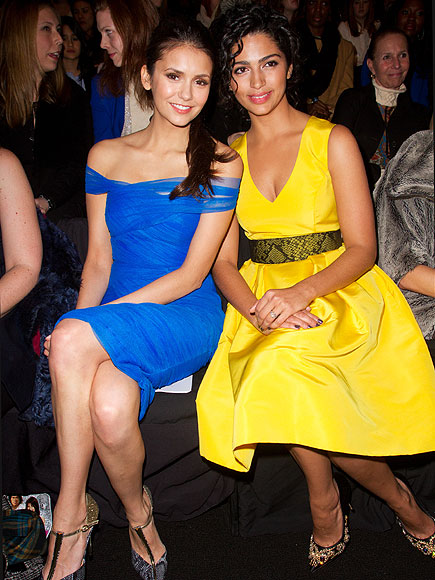 FRONT ROW AT MONIQUE LHUILLIER photo | Camila Alves