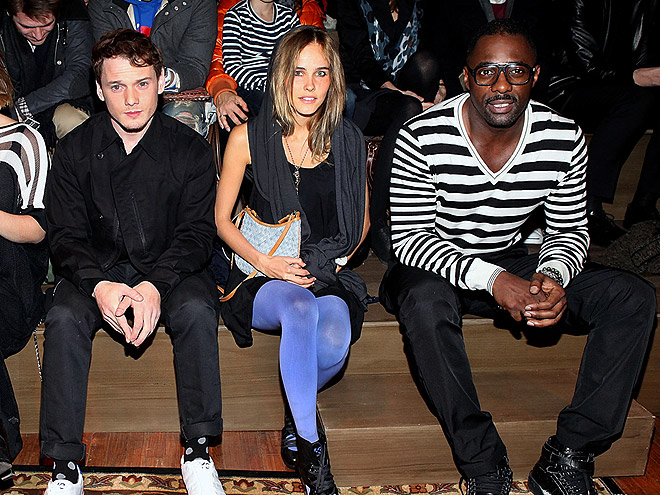 Y-3 FRONT ROW photo | Anton Yelchin, Idris Elba, Isabel Lucas