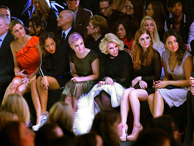 FRONT ROW AT BADGLEY MISCHKA photo | Erin Andrews, Joan Rivers, Kate Mara, Kelly Osbourne