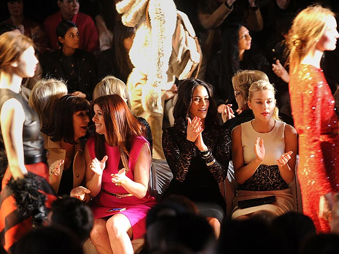 MICHAEL KORS FRONT ROW photo | Amber Heard, Anjelica Huston, Debra Messing, Paula Patton