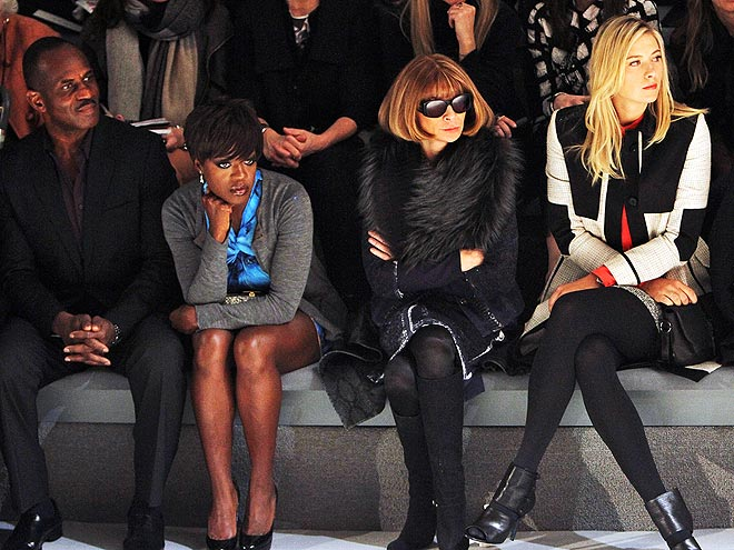 FRONT ROW AT VERA WANG photo | Anna Wintour, Maria Sharapova, Viola Davis