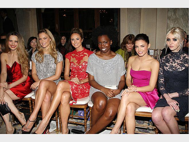 MARCHESA FRONT ROW photo | Adepero Oduye, Bar Refaeli, Jenna Dewan, Petra Nemcova, Stacy Keibler, Taylor Momsen