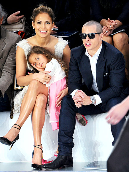 CHANEL FRONT ROW photo | Casper Smart, Jennifer Lopez