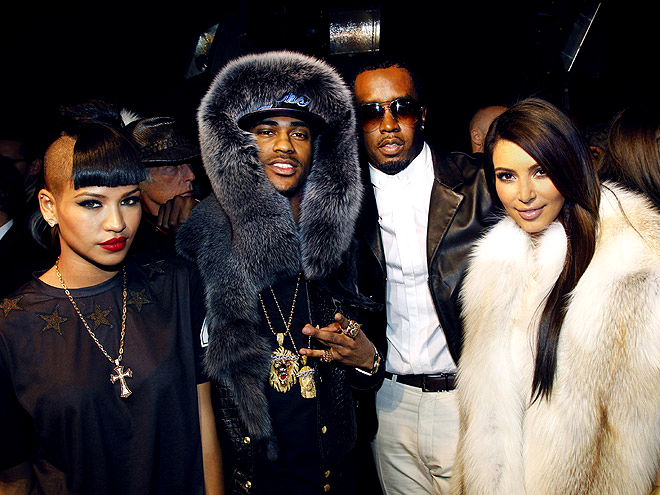 KANYE WEST SHOW photo | Cassie, Kim Kardashian, Sean \P. Diddy\ Combs