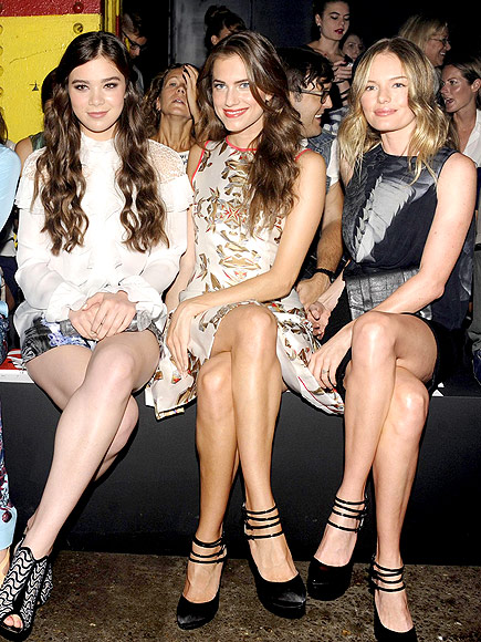 PRABAL GURUNG FRONT ROW photo | Allison Williams, Hailee Steinfeld, Kate Bosworth