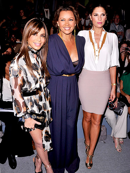 CARLOS MIELE FRONT ROW photo | Daisy Fuentes, Paula Abdul, Vanessa Williams