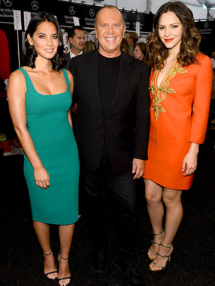 MICHAEL KORS SHOW photo | Katharine McPhee, Michael Kors, Olivia Munn