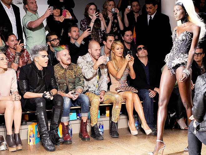 THE BLONDS FRONT ROW photo | Adam Lambert, Paris Hilton